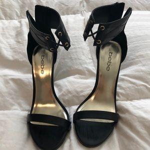 Bebe black sexy heels